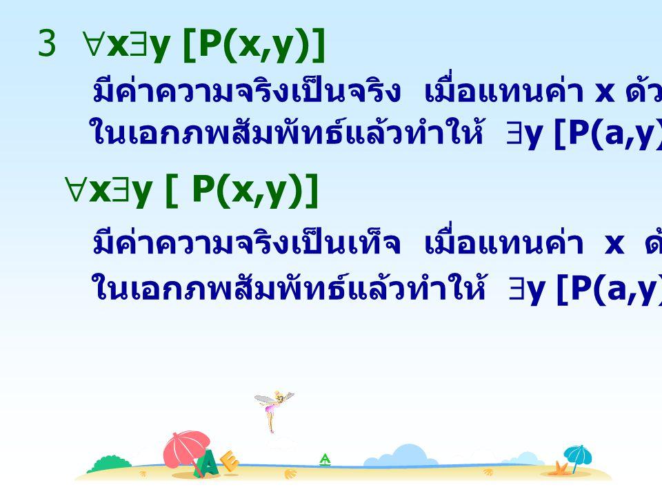 3 xy [P(x,y)] xy [ P(x,y)]